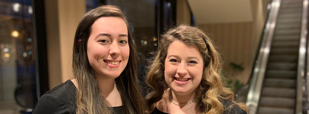Raiders Reagan Morgan & Erin Wilson @ 2019 KMEA All-State Chorus