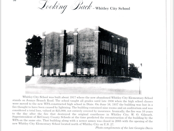 Whitley City Elementary 1917