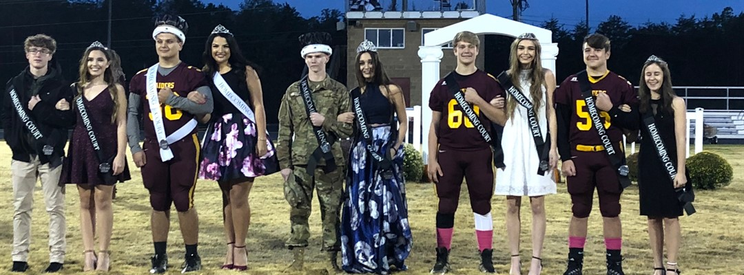 2018 Football Homecoming Court